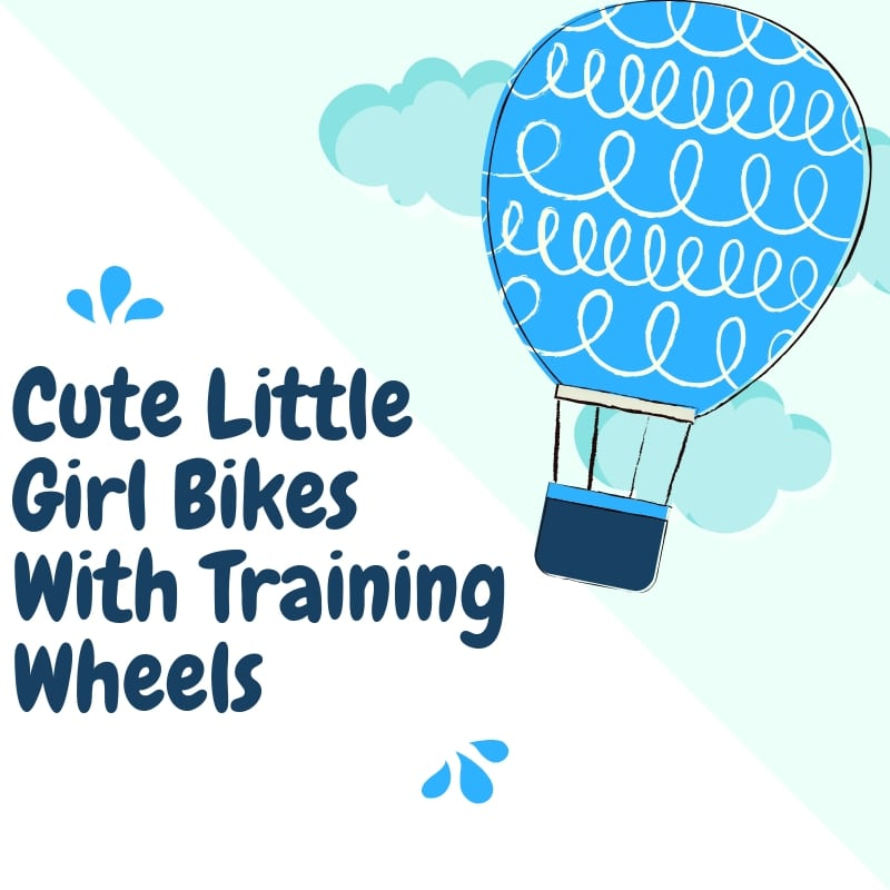Cute Little Girl Bikes With Training Wheels